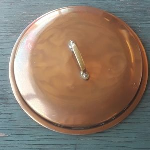 COPPER Pot   Lid 12 inchers